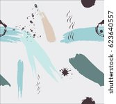 seamless hand drawn pattern.... | Shutterstock .eps vector #623640557