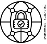 internet security software... | Shutterstock .eps vector #623648453