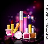 premium collection of colorful... | Shutterstock .eps vector #623653817