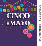 cinco de mayo   may 5  federal... | Shutterstock .eps vector #623664803