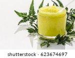 Transparent Jar With Yellow...