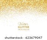 falling glitter confetti.... | Shutterstock .eps vector #623679047