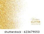 falling glitter confetti.... | Shutterstock .eps vector #623679053