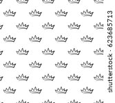 attractive king crown vector... | Shutterstock .eps vector #623685713