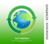earth day   eco flyer  eco... | Shutterstock .eps vector #623689643