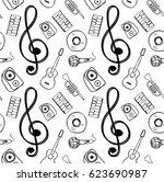 pattern music item | Shutterstock .eps vector #623690987