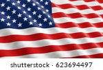american flag waving in the... | Shutterstock . vector #623694497