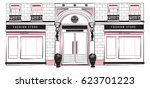 Vector Shopfront Detailed Pink...