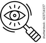 system watcher vector icon   Shutterstock .eps vector #623716157