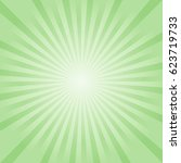 abstract soft green rays... | Shutterstock .eps vector #623719733