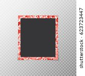 photo frame with hearts of...   Shutterstock .eps vector #623723447