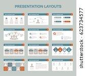 set of 12 presentation layouts...