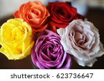 Floral Background. Texture Of...
