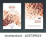 vector annual report templates  ... | Shutterstock .eps vector #623739023