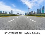 city road through modern... | Shutterstock . vector #623752187