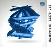 brush stroke and texture.... | Shutterstock .eps vector #623754263