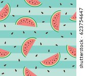 cute seamless pattern with... | Shutterstock .eps vector #623754647