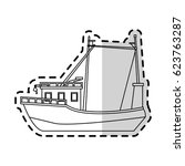 fishing boat icon image  | Shutterstock .eps vector #623763287