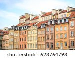 beautiful colorful tenements in ... | Shutterstock . vector #623764793