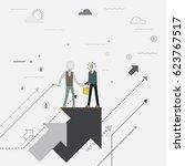 business teamwork.process to... | Shutterstock .eps vector #623767517