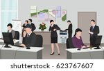 office  office people | Shutterstock .eps vector #623767607
