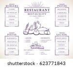 placemat design template vector ... | Shutterstock .eps vector #623771843