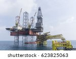 oil and gas industries. view of ... | Shutterstock . vector #623825063