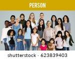 diversity women set gesture... | Shutterstock . vector #623839403