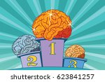 the human shine brain on sports ... | Shutterstock .eps vector #623841257