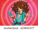 beautiful girls crashed... | Shutterstock .eps vector #623841377