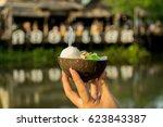 Ice Cream In Coconut Shell