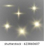 glow light effect. star burst... | Shutterstock .eps vector #623860607