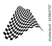 checkered flag. racing flag... | Shutterstock .eps vector #623865707
