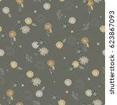 seamless hand drawn pattern of... | Shutterstock . vector #623867093