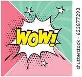 cartoon  comic speech bubble in ... | Shutterstock .eps vector #623877293