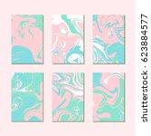 pastel summer marble texture... | Shutterstock .eps vector #623884577