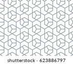 abstract geometric pattern with ... | Shutterstock .eps vector #623886797