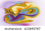 colorful psychedelic liquefied... | Shutterstock . vector #623890787
