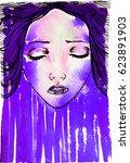 watercolor graphic illustration ... | Shutterstock . vector #623891903
