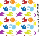 vector seamless pattern with... | Shutterstock .eps vector #623898707