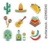 collection of vector... | Shutterstock .eps vector #623900243