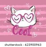 cute cat sketch vector...   Shutterstock .eps vector #623900963