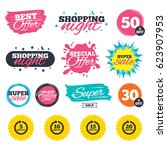 sale shopping banners. special... | Shutterstock .eps vector #623907953