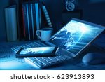 networks and the internet.... | Shutterstock . vector #623913893