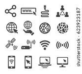 internet icons | Shutterstock .eps vector #623923187