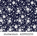 floral pattern. pretty flowers... | Shutterstock .eps vector #623932253