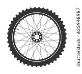 bicycle wheel symbol vector.... | Shutterstock .eps vector #623948987