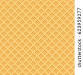 ice cream pattern waffle... | Shutterstock .eps vector #623959277