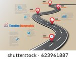 design template  road map... | Shutterstock .eps vector #623961887