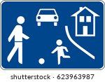 the restricted traffic area.... | Shutterstock .eps vector #623963987